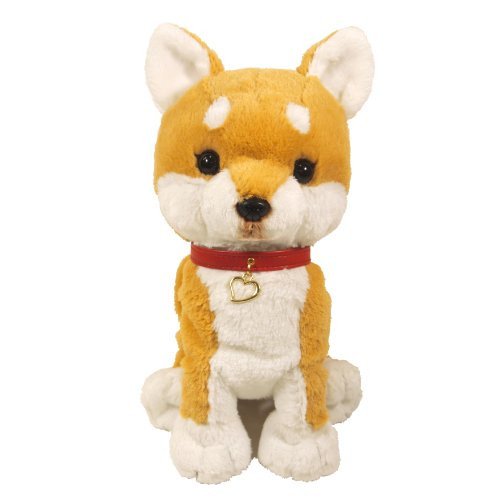 Sun Lemon Plush Doll Paps! Stuffed Toy Plush Puppy Shiba-dog Beige Medium TJN