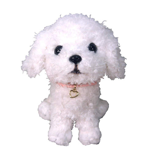 Sun Lemon Plush Doll Paps! Stuffed Toy Plush Puppy Toy Poodle White TJN