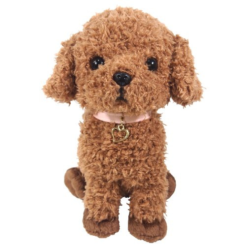 Sun Lemon Plush Doll Paps! Stuffed Toy Plush Toy-Poodle Brown Medium TJN