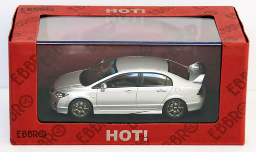 Ebbro 44319 Honda Civic Type R FD2 (Silver) 1/43 Scale
