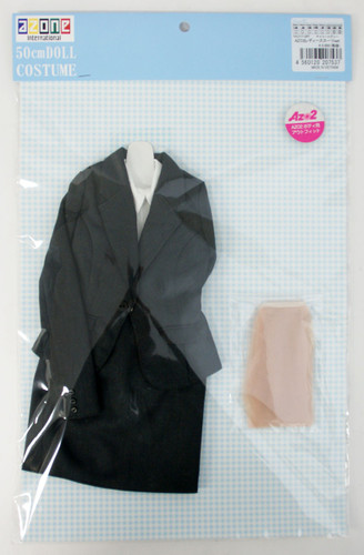 Azone FAO117-GRY 50cm AZO2 Ladies Suit Set Charcoal Gray