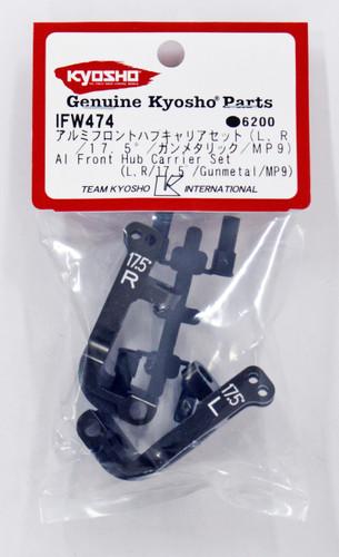 Kyosho IFW474 Al Front Hub Carrier Set(L,R/17.5゚/Gunmetal/MP9)
