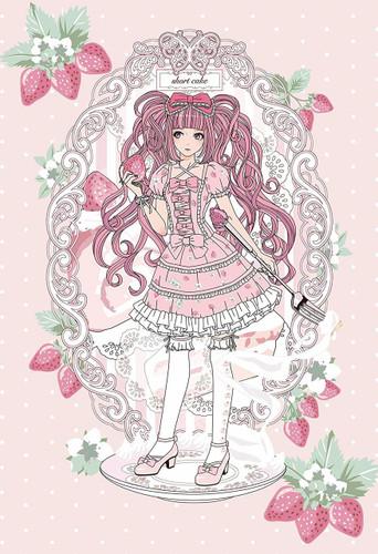Apollo-sha Jigsaw Puzzle 48-788 Strawberry Shortcake Girl (300 Pieces)