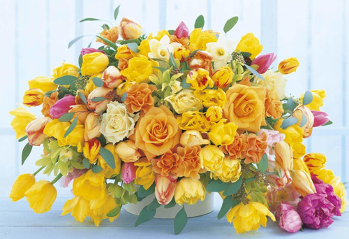Apollo-sha Jigsaw Puzzle 47-709 Happy Yellow Flowers (1053 S-Pieces)