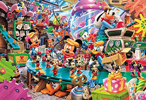 Tenyo Japan Pure White Jigsaw Puzzle DP-1000-021 Disney Mickey's Toy Factory (1000 Pieces)