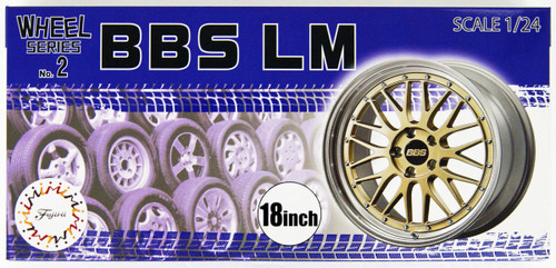 Fujimi 193434 W-2 1/24 Scale BBS LM 18 inch Wheel & Tire Set