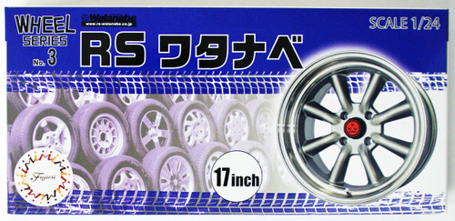 Fujimi 193441 W-3 1/24 Scale RS Watanabe 17 inch Wheel