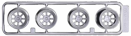 Fujimi 193465 W-5 1/24 Scale 8-Spoke Wheels for Racing 15 inch Wheel