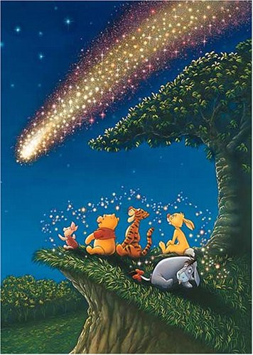 Tenyo Japan Jigsaw Puzzle D-300-704 Winnie the Pooh Stars Hologram (300 Pieces)
