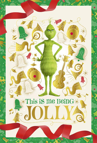 Yanoman Jigsaw Puzzle 03-895 Grinch This is me being jolly (300 Pieces)