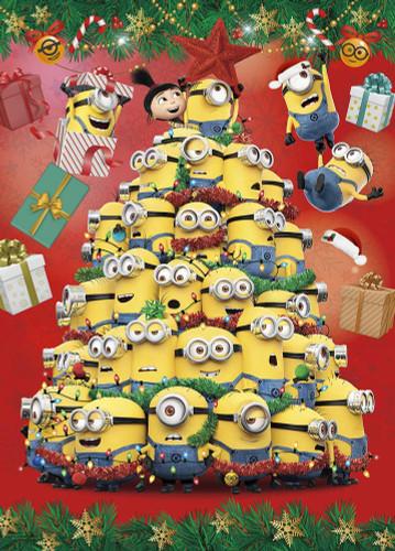 Yanoman Jigsaw Puzzle 05-1013 Minions Christmas Tree (500 Pieces)