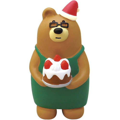 DECOLE Concombre Christmas Combre Master Bear Brown Mini Figure