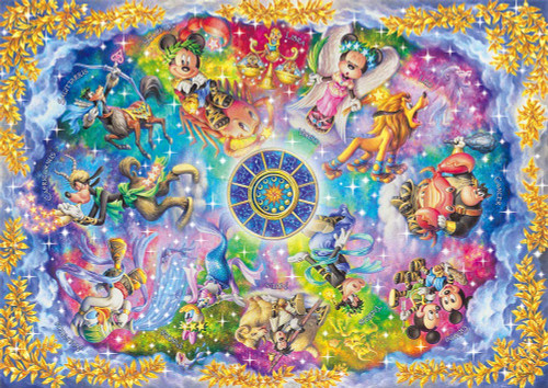 Tenyo Japan Jigsaw Puzzle DW-1000-003 Disney Zodiacal Constellations (1000 S-Pieces)
