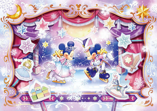 Tenyo Japan Jigsaw Puzzle D-108-816 Disney The Ice Show (108 Pieces)