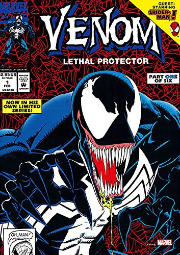 Tenyo Japan Jigsaw Puzzle R-108-624 Marvel Cover Art Collection Vol.1 Venom (108 Pieces)