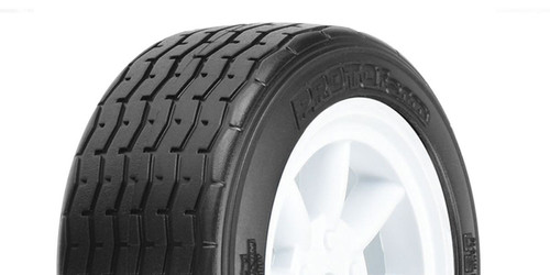 Kyosho PL-10140-17 VTA Front Tires Mounted on White Wheels