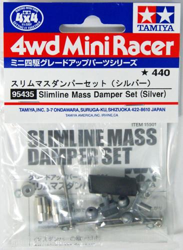 Tamiya 95435 Mini 4WD Slimline Mass Damper Set (Silver)