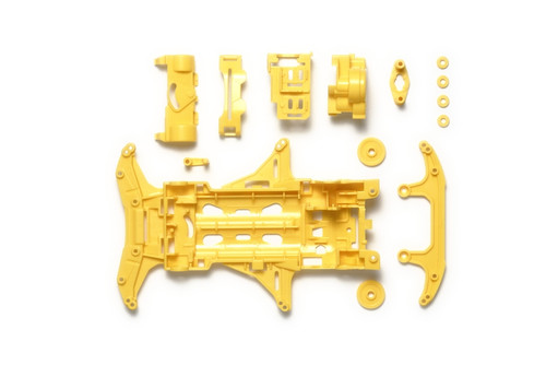 Tamiya 95353 Mini 4WD VS Reinforced Chassis Set (Yellow)