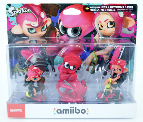 Nintendo amiibo Octoling Boy / Octopus / Girl Triple Set (Splatoon)