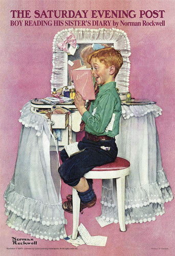 Yanoman Jigsaw Puzzle 03-892 Norman Rockwell His Sister's Diary (300 Pieces)