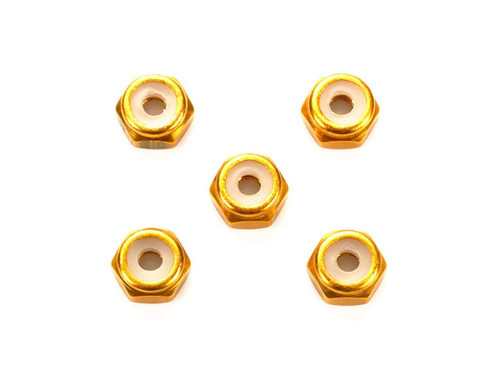 Tamiya Mini 4WD 95458 2mm Aluminium Locknut (Gold) 5 pcs.