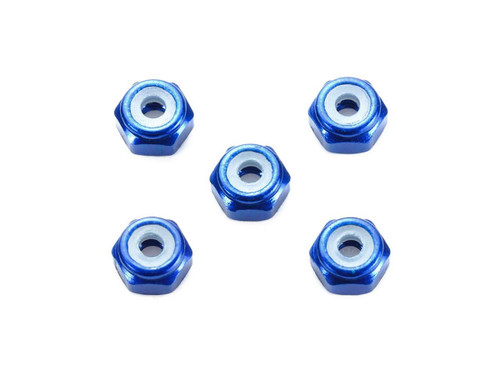 Tamiya Mini 4WD 95459 2mm Aluminium Locknut (Dark Blue) 5 pcs.
