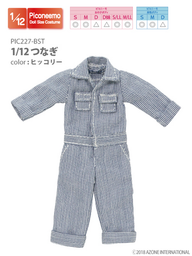 Azone PIC227-BST 1/12 Picco Neemo Jumpsuit Hickory