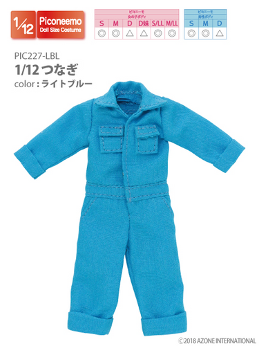 Azone PIC227-LBL 1/12 Picco Neemo Jumpsuit Light Blue