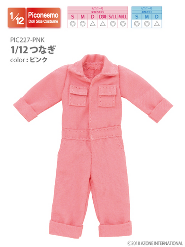 Azone PIC227-PNK 1/12 Picco Neemo Jumpsuit Pink