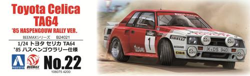 Aoshima 06075 Toyota Celica TA64 '85 Haspengouw Rally Ver. 1/24 Scale kit