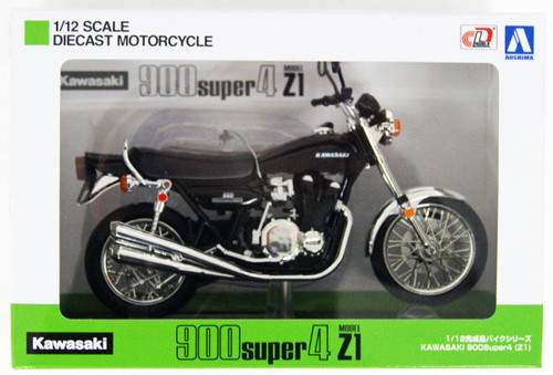 Aoshima Skynet 05948 Kawasaki 900 Super4 (Z1) Black 1/12 Scale Finished Model
