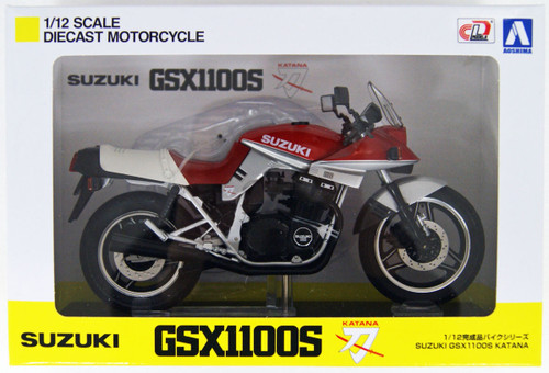 Aoshima Skynet 05238 Suzuki GSX1100S KATANA SE Red/ Silver 1/12 Scale Finished Model
