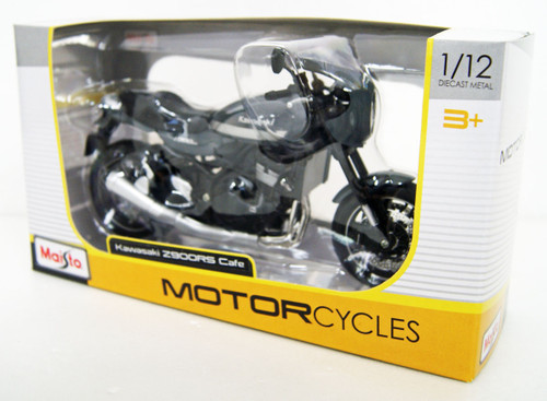 Aoshima Skynet 05047 Kawasaki Z900RS Metallic Cafe Pearl Storm Gray 1/12 Scale Finished Model