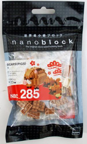 Kawada NBC_285 nanoblock Wild Boars