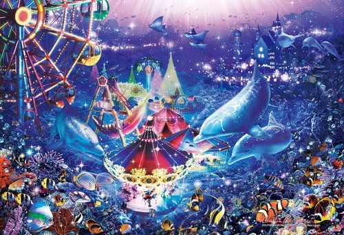 Epoch Jigsaw Puzzle 31-705 Lassen Dolphin in Wonderland (1053 S-Pieces)