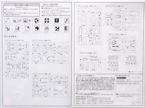 Bandai HGUC 035 Gundam FXA-05D/RX-178 Super Gundam 1/144 Scale Kit