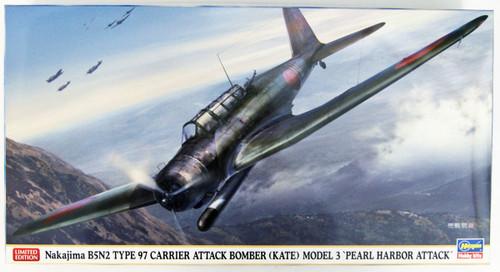 Hasegawa 07472 Nakajima B5N2 Type 97 Carrier Attach Bomber (Kate) Model 3 'Pearl Harbor Attack' 1/48 scale kit