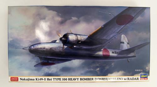 Hasegawa 02294 Nakajima Ki-49-II Hei Type 100 Heavy Bomber Donryu (Helen) w/Radar 1/72 Scale kit