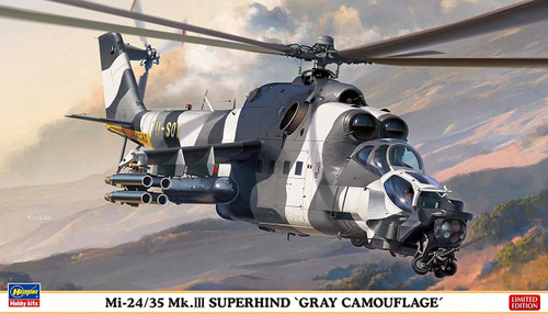 Hasegawa 02297 Bulgarian Air Force Mi-24/35 Mk.III Super Hind Gray Camouflage 1/72 scale kit