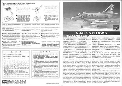 Hasegawa PT22 A-4C Skyhawk 1/48 scale kit