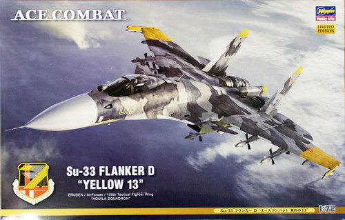 Hasegawa SP312 Ace Combat Su-33 Flanker D Yellow 13 1/72 Scale Kit