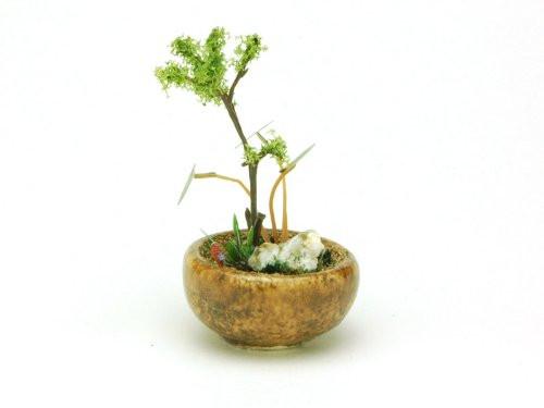 Platz BONN02 The Bonsai Marubachi Planting (Brown) 1/12 Scale Finished Model