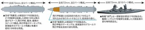 Fujimi Gunkan 18  Operation A Ozawa Fleet Otsu Set 1/3000 scale kit