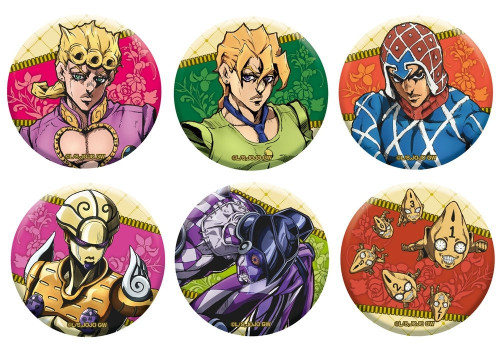 Medicos Jojo's Bizarre Adventure Golden Wind: Can Badge Collection Vol. 1 Box 6pcs