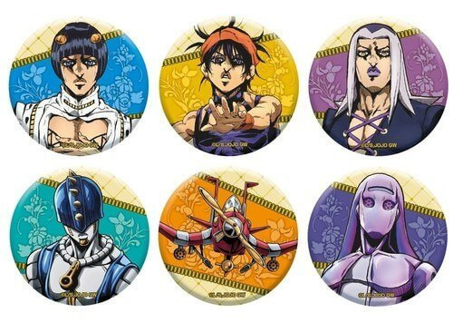 Medicos Jojo's Bizarre Adventure Golden Wind: Can Badge Collection Vol. 2 Box 6pcs