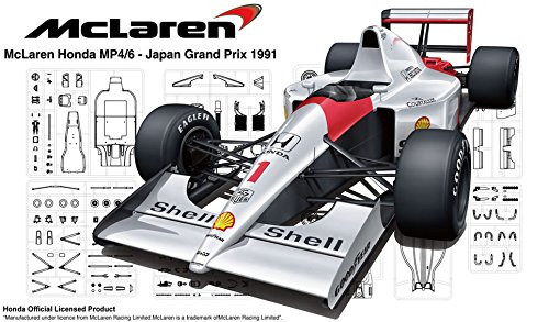 Fujimi GP25 EX-1 McLaren Honda MP4/6 1991 (Brazil/San Marino/Japan GP) Special Ver. (with Japanese GP Photo-Etched Parts) 1/20 Scale kit