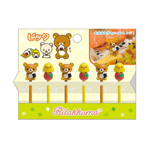 San-X Rilakkuma Lunch Decoration Cocktail Sticks KY64001 TJO
