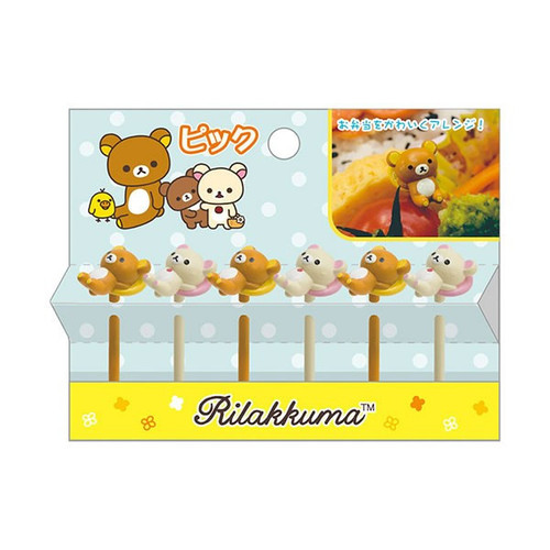 San-X Rilakkuma Lunch Decoration Cocktail Sticks KY64101 TJO