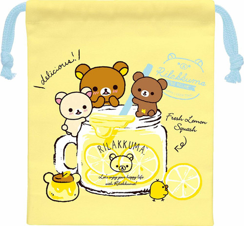 San-X Rilakkuma Small Drawstring Bag for Cups CU32801 TJO
