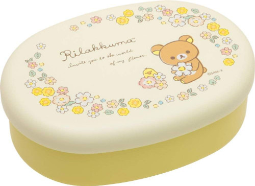 San-X Rilakkuma Lunch Box Food Container Oval KY60101 TJO